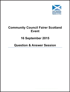 Fairer Scotland - Community Council Event - Q & A Report - Final