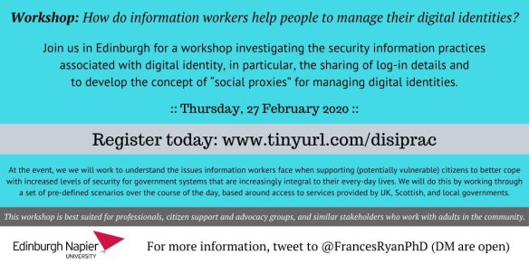 poster about the workshop, linked to the eventbrite sign-up page